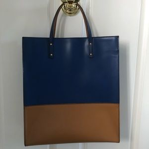 Escada dual tone leather tote, never used!